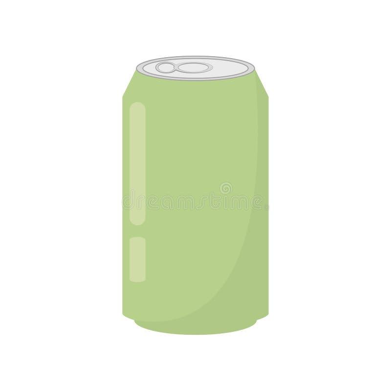 boisson verte de boîte de soude illustration de vecteur