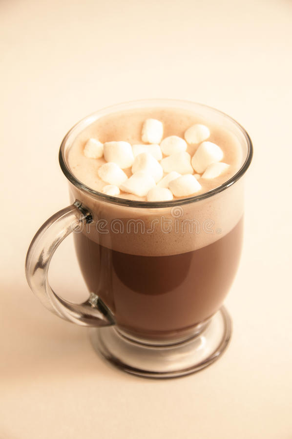 Boissons de chocolat chaud photos stock