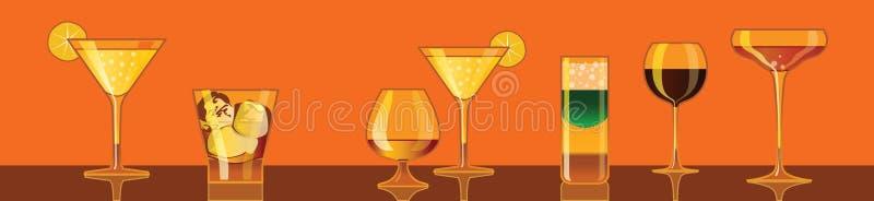 boissons de cocktails illustration stock