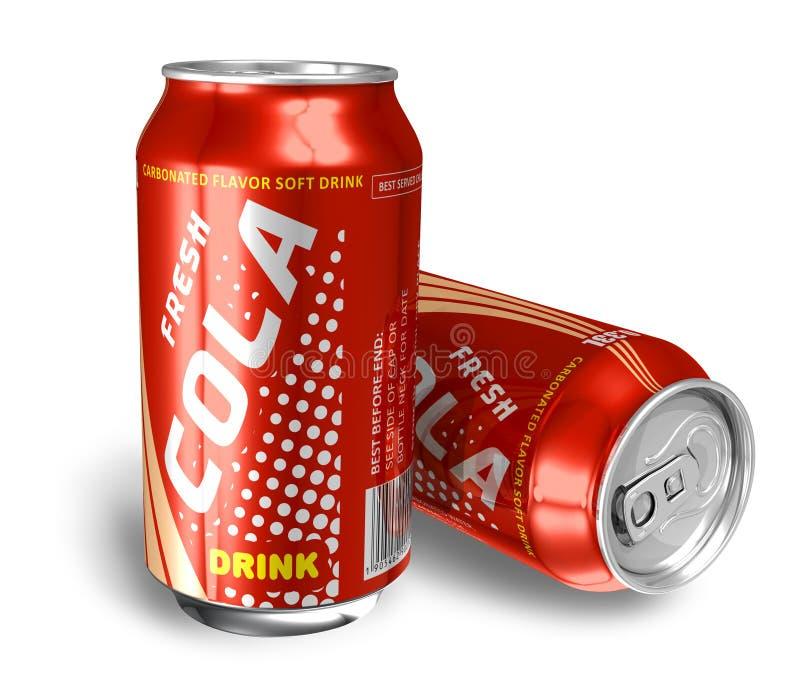 Boissons de kola dans des bidons en métal illustration de vecteur