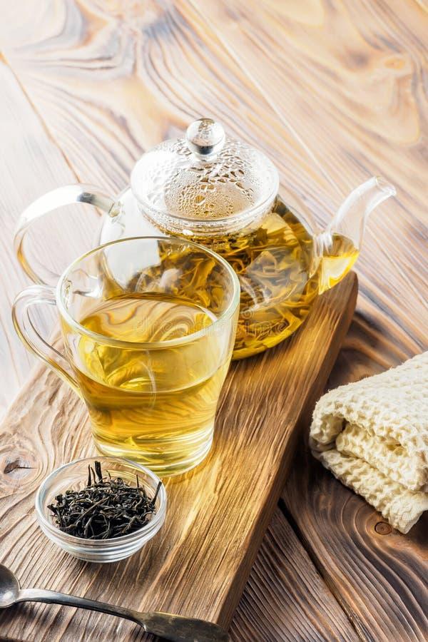 Boissons de thé vert de chinois traditionnel images libres de droits