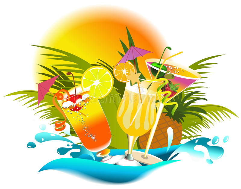 Boissons tropicales illustration de vecteur