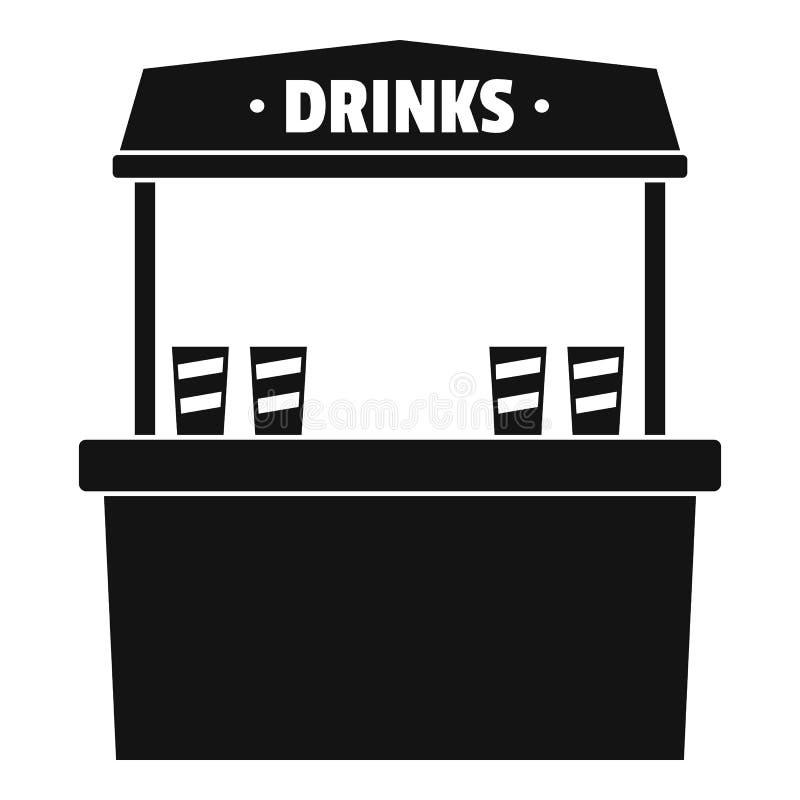 Boissons vendant l'icône, style simple illustration libre de droits