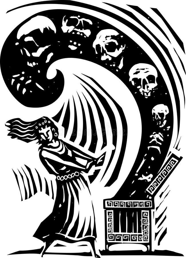 Boite de Pandore illustration stock