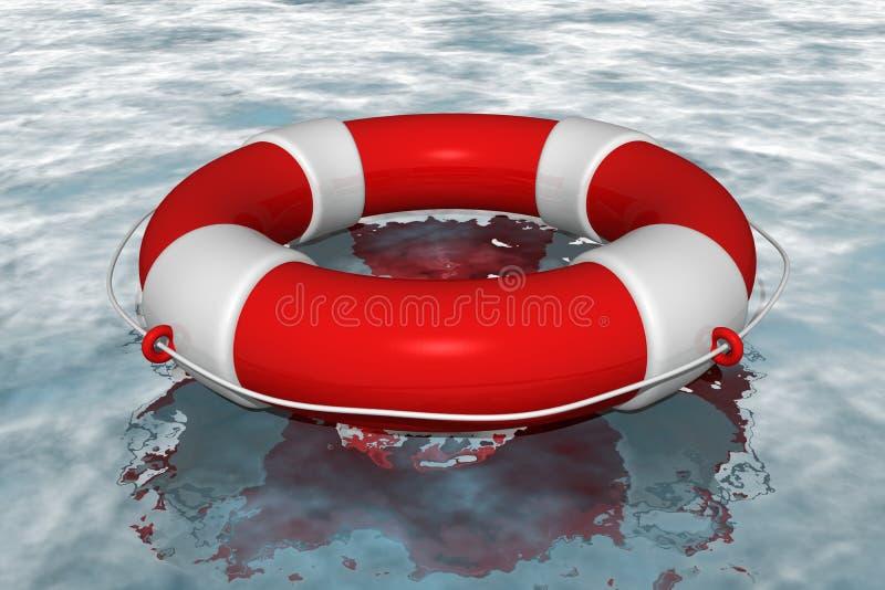 boja życia czerwona woda royalty ilustracja