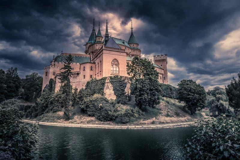 Bojnice城堡-斯洛伐克共和国 免版税库存照片