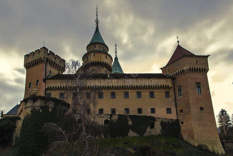 Bojnice城堡 免版税库存照片