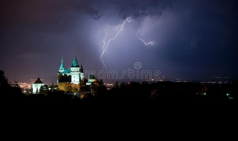 Download Bojnice Castle stock photo. Image of slovakia, hill, landscape - 26018986