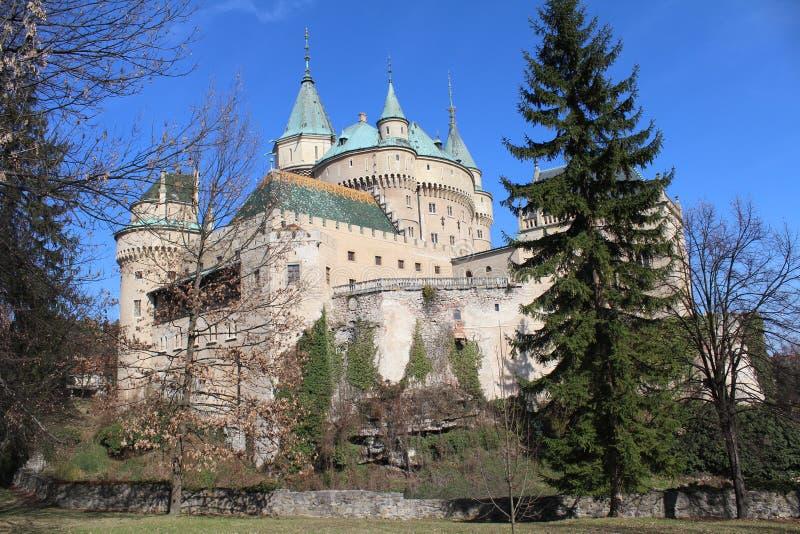 Bojnice Schloss, Slowakei lizenzfreies stockfoto