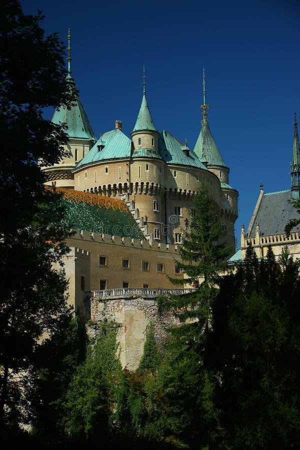 Bojnice slott royaltyfri fotografi