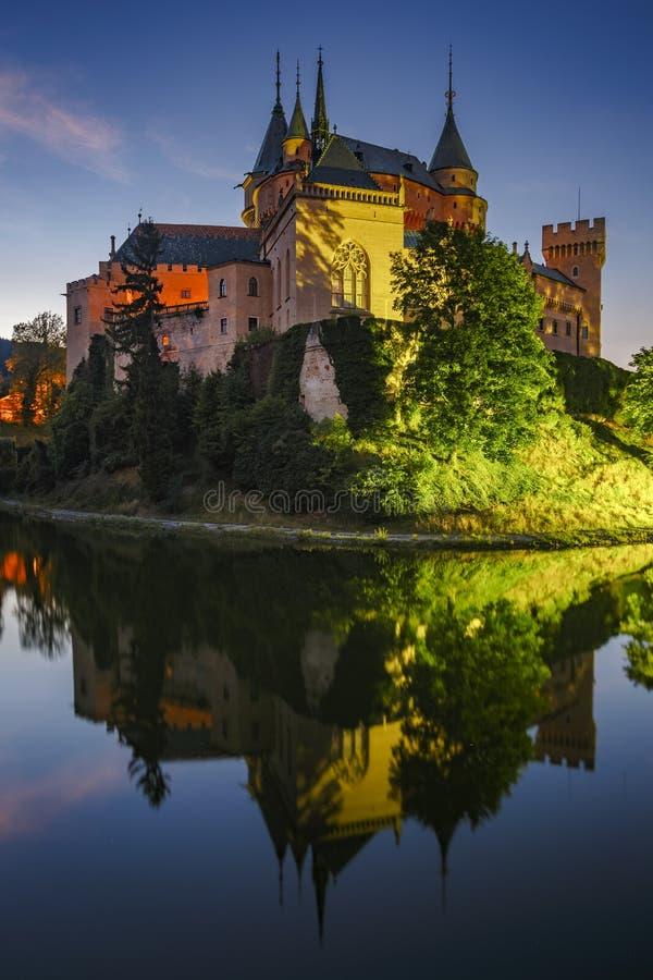 Bojnice slott arkivbild