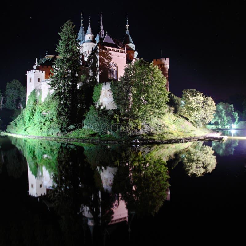 bojniceslott slovakia arkivfoto