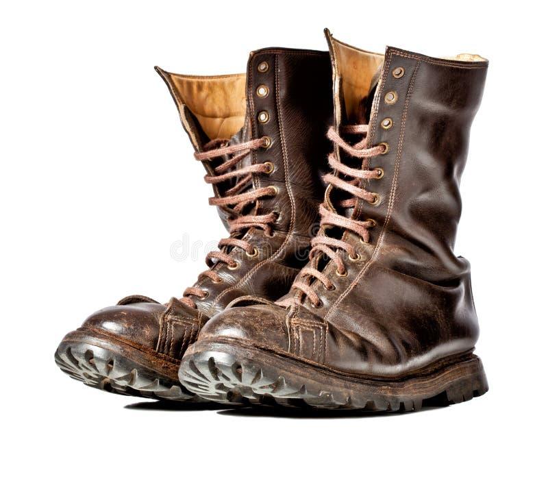 Bojowi buty obraz stock
