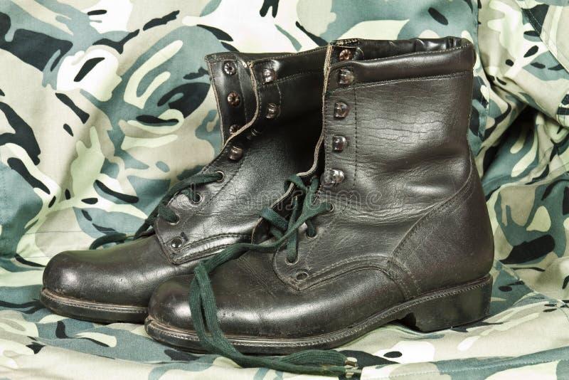 Bojowi buty obrazy stock