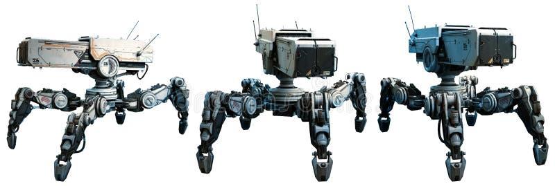 Bojowi roboty ilustracji