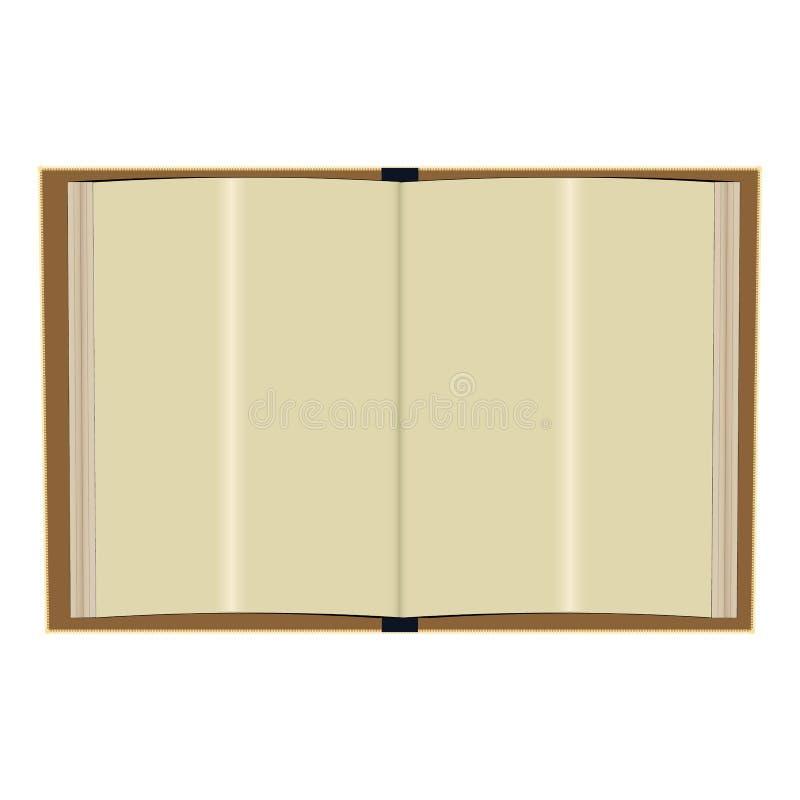Bokåtlöje upp med vertikal riktning för stående Realistiska pappers- sidor och att täcka med skuggor Tom mall av katalogen,  royaltyfri illustrationer