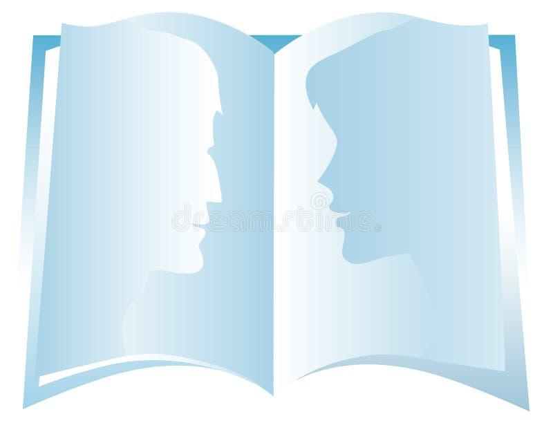 bok vektor illustrationer