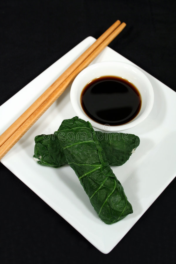 Bok asiatique Choy Rolls images stock