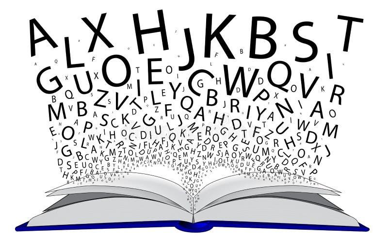 Bok av bokstäver royaltyfri illustrationer