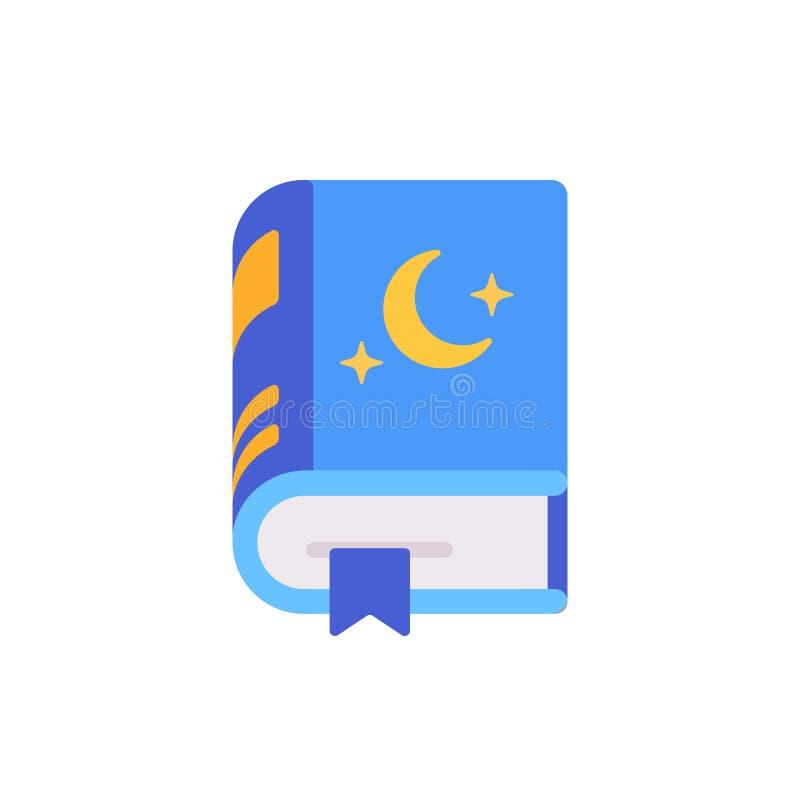 Bok av den plana symbolen för läggdagsberättelser vektor illustrationer