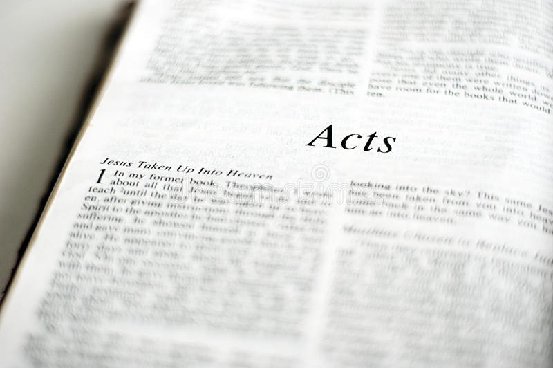 Bok av handlingar royaltyfri bild