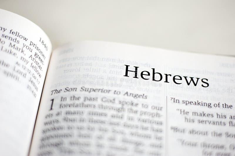 Bok av hebréer fotografering för bildbyråer