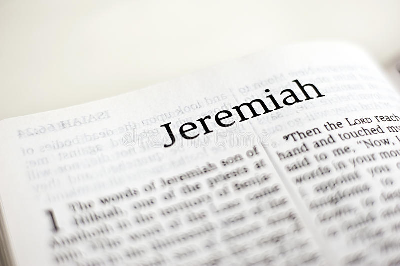 Bok av Jeremiah arkivbild