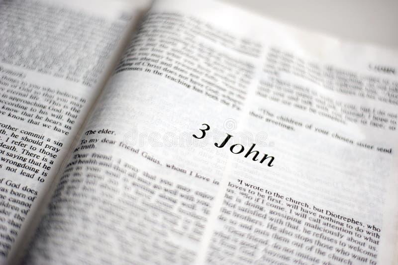 Bok av 3 John royaltyfri fotografi