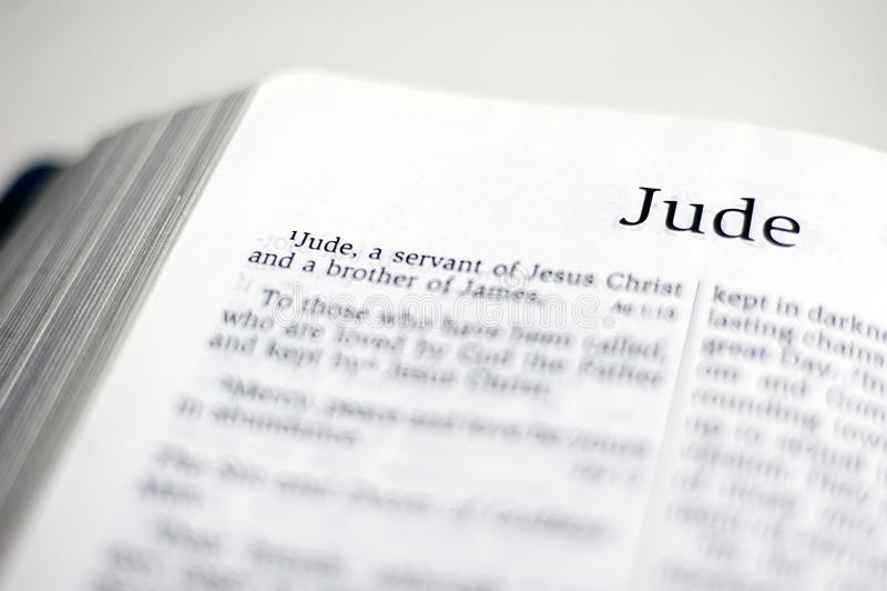 Bok av Jude arkivbild