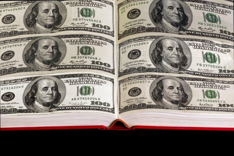 Bok av pengar fotografering för bildbyråer