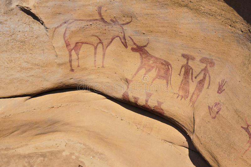 3000 Bok Cave Paintings stock images