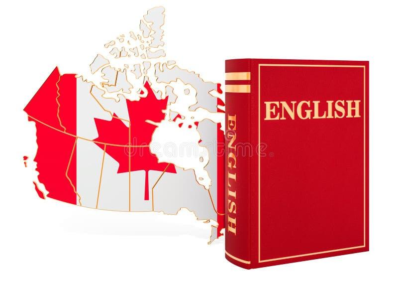 Bok för engelskt språk med översikten av Kanada, tolkning 3D vektor illustrationer