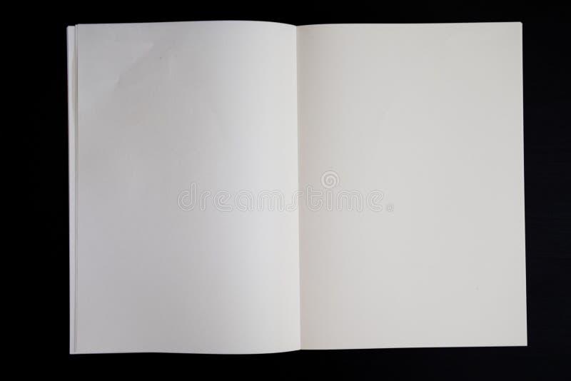 Bok för tom sida arkivbilder