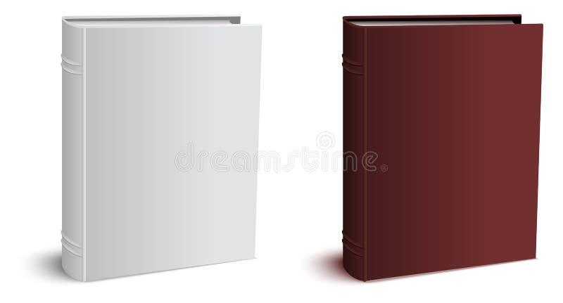 Bok för tredimensionell hardcover för mall stängd royaltyfri illustrationer