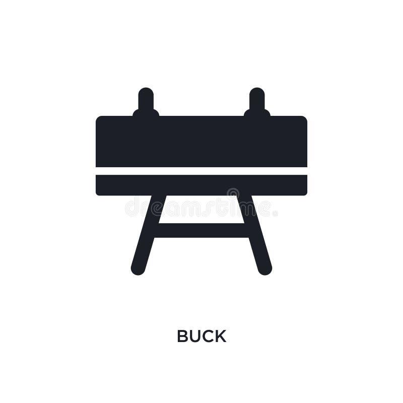 bok geïsoleerd pictogram eenvoudige elementenillustratie van het conceptenpictogrammen van het gymnastiekmateriaal ontwerp van he stock illustratie