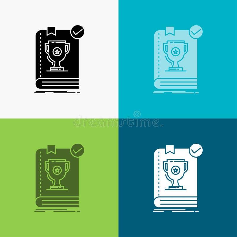 554 bok, herravälde, ledare, regel, regelsymbol över olik bakgrund sk?rastildesign som planl?ggs f?r reng?ringsduk och app Vektor vektor illustrationer