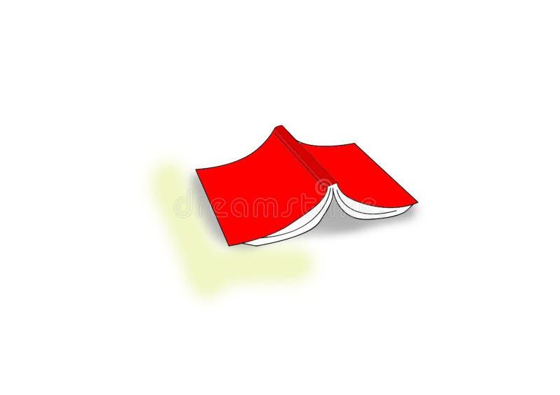 Bok som är uppochnervänd på golvet vektor illustrationer