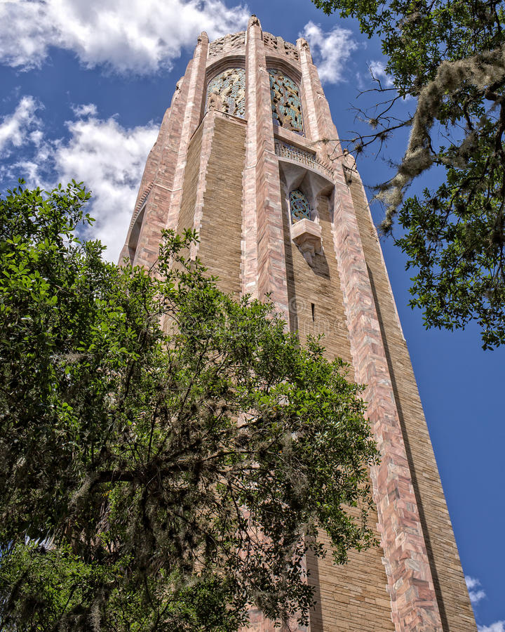 Bok Tower. Gardens (also known as Bok Mountain Lake Sanctuary and Singing Tower) is a botanical garden and bird sanctuary, located north of Lake Wales, Florida royalty free stock photos