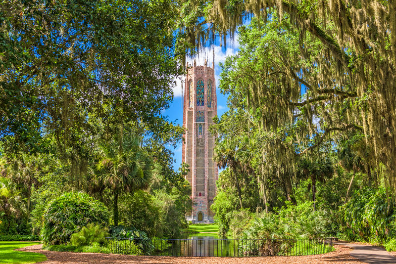 Bok Tower Gardens. Lake Wales, Florida, USA at Bok Tower Gardens stock image