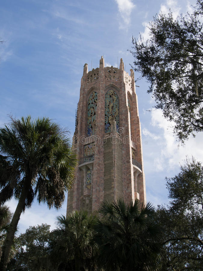Bok Tower. Top of the Bok Tower in Lake Wales, Florida stock photos