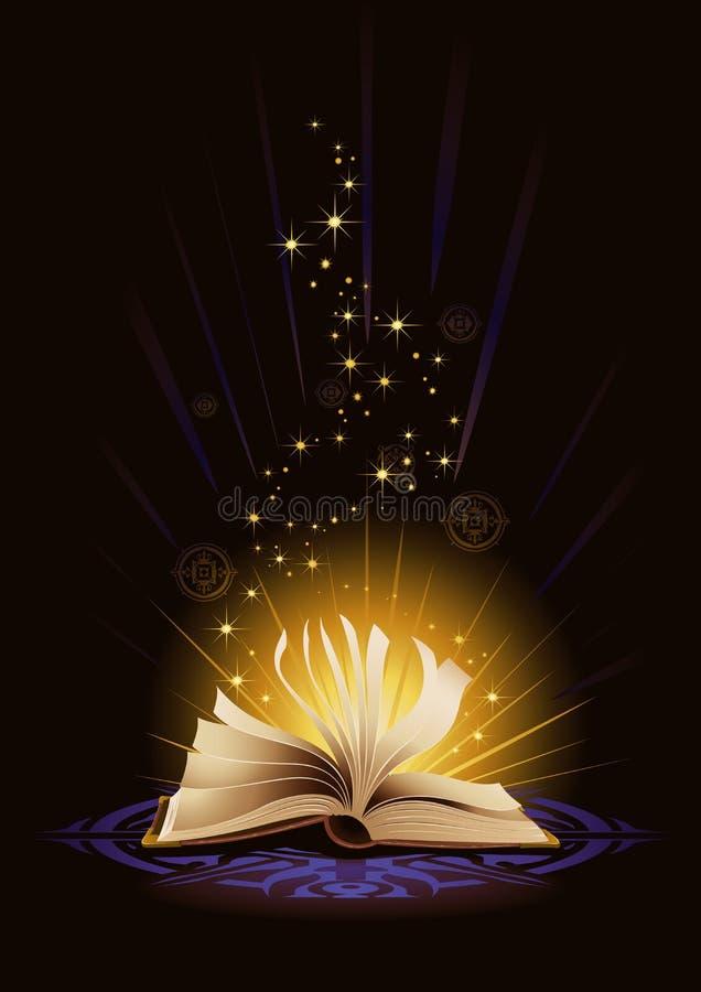 Boka av magi vektor illustrationer