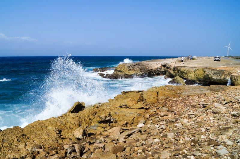 Boka Kanao en le Curaçao photo stock