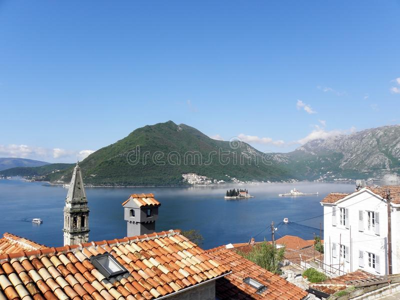 Boka Kotorska bay, Monte Negro. Beautiful Boka Kotorska bay, Monte Negro, Europe stock image
