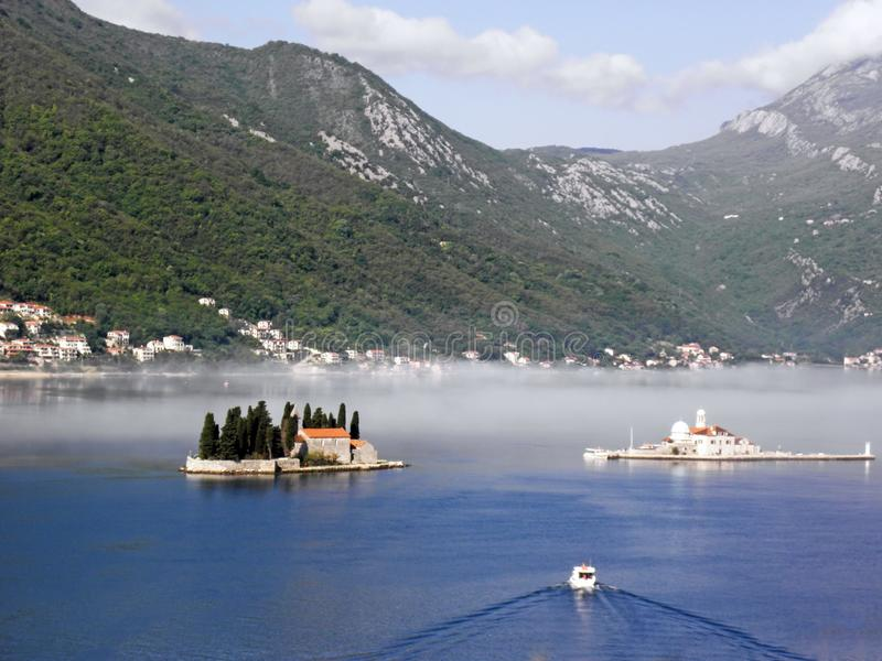 Boka Kotorska bay, Monte Negro. Beautiful Boka Kotorska bay, Monte Negro, Europe royalty free stock images