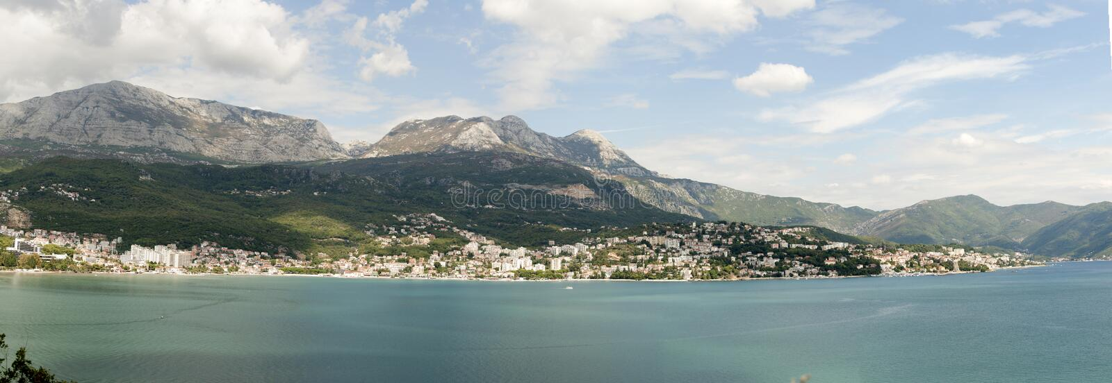 Boka Kotorska bay. Photo of Boka Kotorska bay herceg novi stock photo