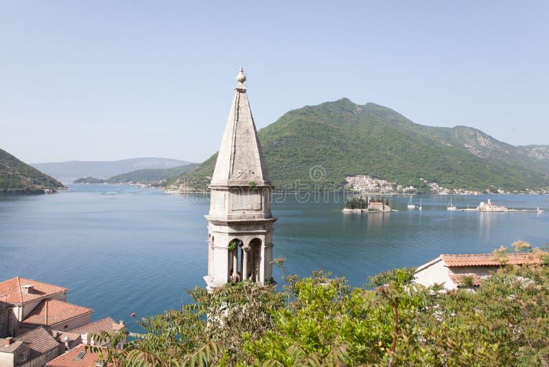 Boka Kotorska Bay. View of Boka Kotorska Bay stock photo