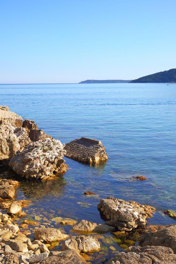Boka Kotorska bay. View of the Boka Kotorska bay in Montenegro - Water landscape stock images