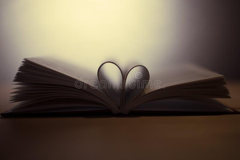 Boka med hjärta royaltyfri bild