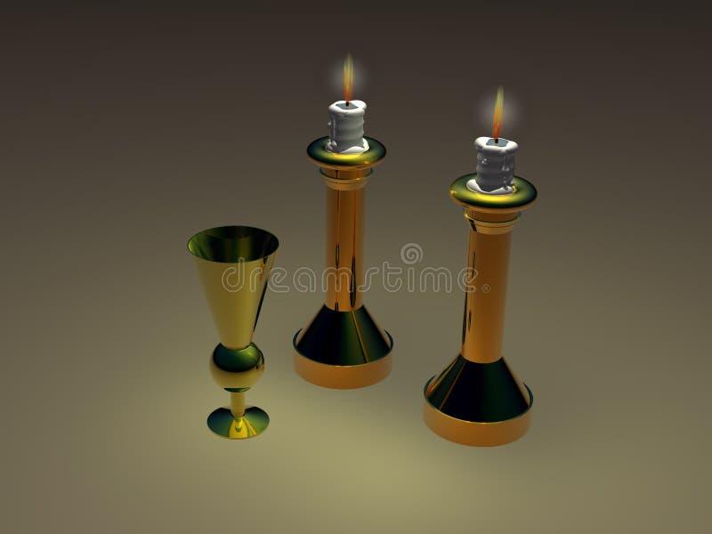 bokal świeczniki ilustracji
