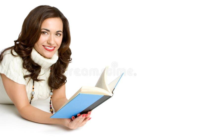 Bokavläsningskvinna Royaltyfria Foton